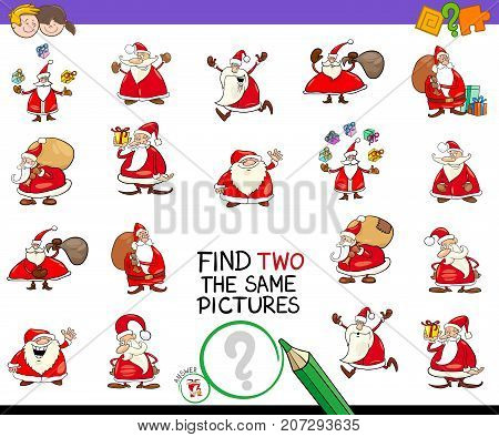 Find Two The Same Pictures Game With Santa