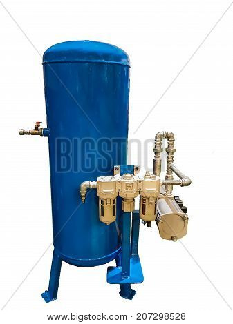 Tanks for compressed air. use for industrial. Isolate on white background