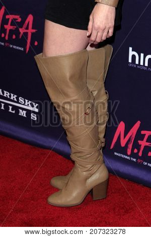 LOS ANGELES - OCT 2:  Maddison Bullock (shoe detail) at the