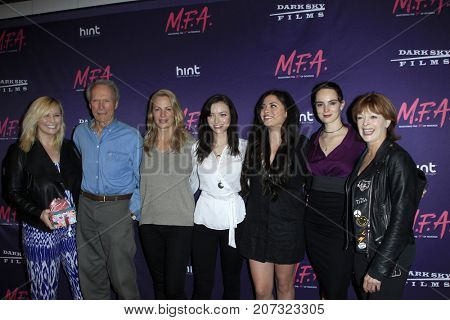 LOS ANGELES - OCT 2: Clint Eastwood, and family, Frances Fisher at the