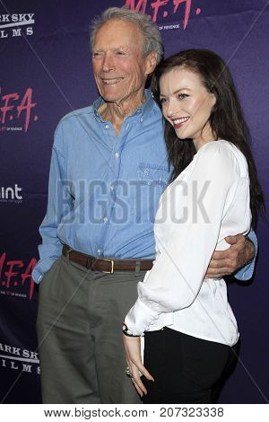 LOS ANGELES - OCT 2:  Clint Eastwood, Francesca Eastwood at the