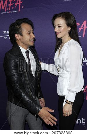 LOS ANGELES - OCT 2:  David Huynh, Francesca Eastwood at the