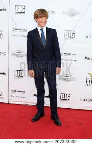 LOS ANGELES - SEP 30:  Tanner Flood at the Catalina Film Festival - September 30 2017 at the Casino on Catalina Island on September 30, 2017 in Avalon, CA