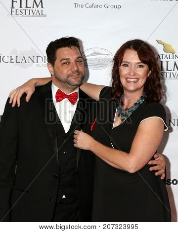 LOS ANGELES - SEP 30:  Ron Truppa, Alisha Seaton at the Catalina Film Festival - September 30 2017 at the Casino on Catalina Island on September 30, 2017 in Avalon, CA