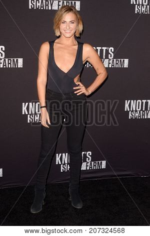 LOS ANGELES - SEP 29:  Scout Compton at the Knott's Scary Farm and Instagram Celebrity Night at the Knott's Berry Farm on September 29, 2017 in Buena Parks, CA