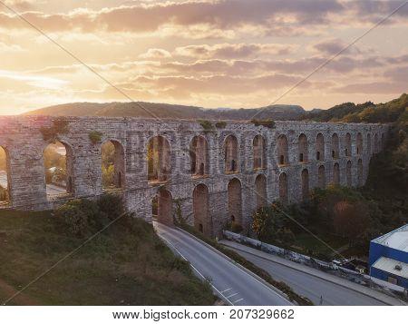 Egrikemer Aqueduct in Istanbul