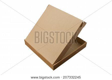 Cardboard boxes on white background. Isolated. Corrugated cardboard