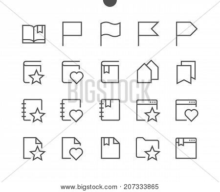 Bookmarks Tags UI Pixel Perfect Well-crafted Vector Thin Line Icons 48x48 Ready for 24x24 Grid for Web Graphics and Apps with Editable Stroke. Simple Minimal Pictogram Part 3-3