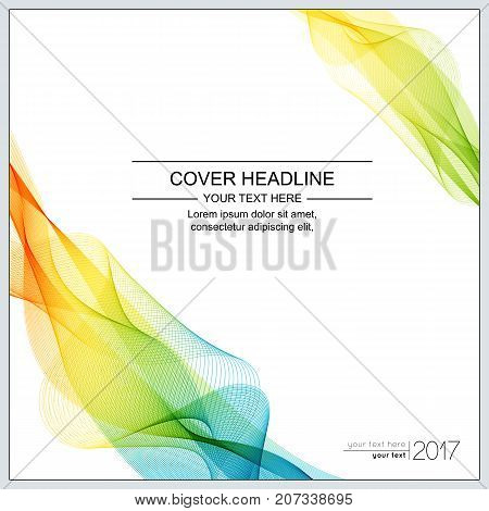 Universal Covers Design with Gradient Wave Line on White Background. Templates for Business Presentation Publications Blank.