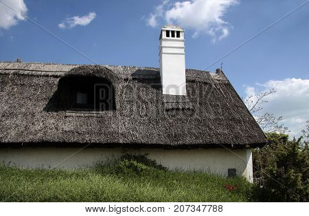 Old Thatched Cottage In Aszofoe, Lake Balaton, Hungary