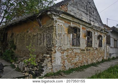 Old Devastated House