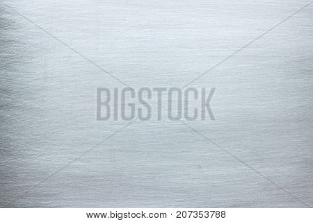 Gray Iron Plate With Scratches, Metal Texture With Chrome Gloss
