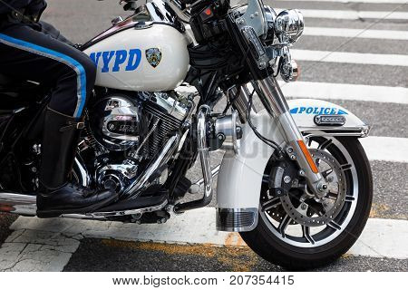 Nypd Officers On Motorcycles