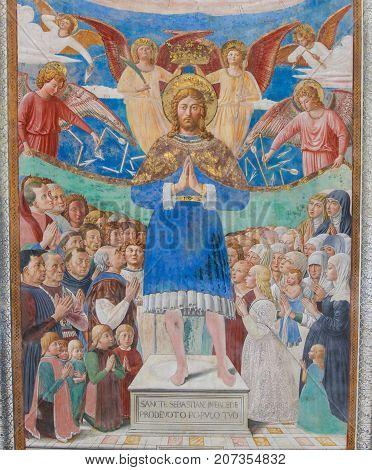 Fresco In San Gimignano, Italy