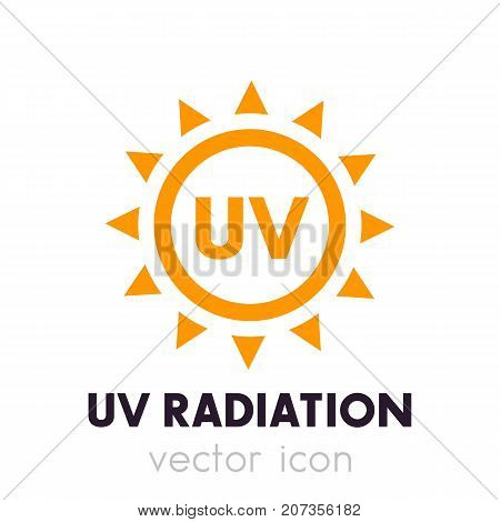 UV radiation vector icon, eps 10 file, easy to edit