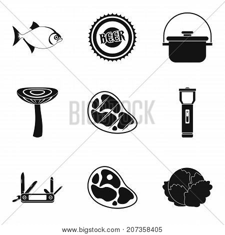 Seasoning for meat icons set. Simple set of 9 seasoning for meat vector icons for web isolated on white background