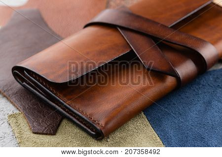 Casual Handmade Brown Leather Wallet