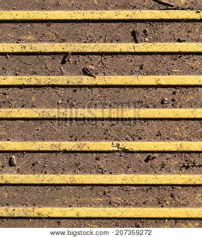 braille pavement - stripes tactile paving surface for blind people. texture pattern.