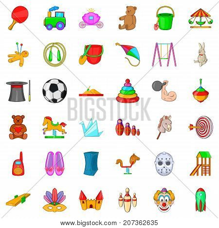 Kindergarten icons set. Cartoon style of 36 kindergarten vector icons for web isolated on white background