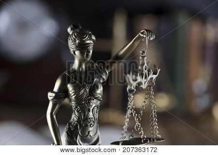 Law theme. Law and justice symbol - Themis.