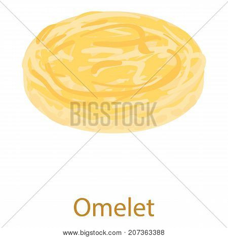Omelet icon. Isometric illustration of omelet icon for web
