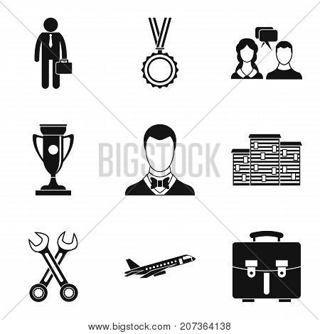 Collaboration icons set. Simple set of 9 collaboration vector icons for web isolated on white background