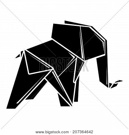 Origami elephant icon. Simple illustration of origami elephant vector icon for web