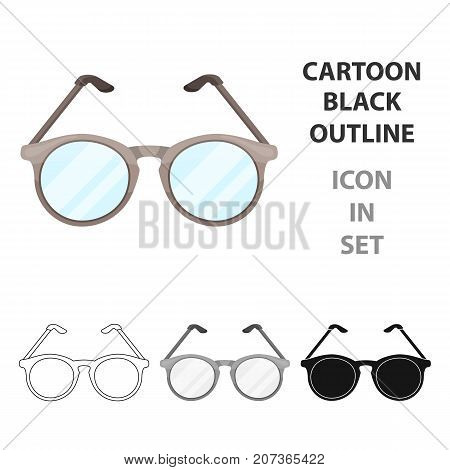 Glasses for sight.Old age single icon in cartoon style vector symbol stock illustration .