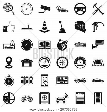 Evacuation icons set. Simple style of 36 evacuation vector icons for web isolated on white background