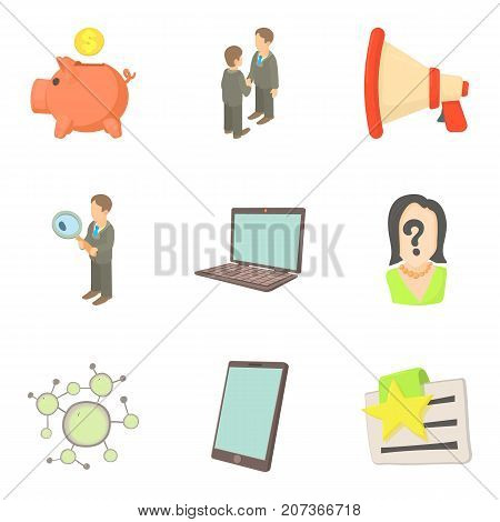 Best worker icons set. Cartoon set of 9 best worker vector icons for web isolated on white background