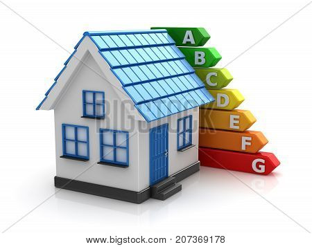 Energy Efficiency Concept With Home