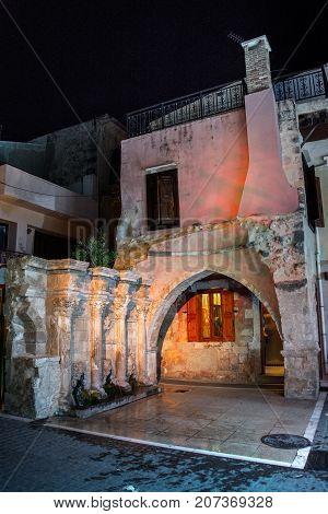 The Rimondi Fountain in the centre of the old town of Rethymnon, Crete, Greece.