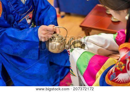 Traditional wedding in Korea. Traditional Wedding Procedure