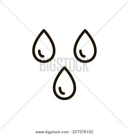 Water circle flat icon. Single high quality outline symbol of spa for web design or mobile app. Thin line signs of beauty for design logo, visit card, etc. Outline logo of massage