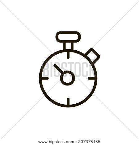 Timer circle flat icon. Single high quality outline symbol of spa for web design or mobile app. Thin line signs of beauty for design logo, visit card, etc. Outline logo of massage