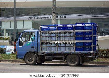 Drinking Water Delivery Truck Of Saran Thip Company
