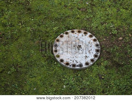 Cast Iron Lid On The Lawn Hides A Secret Trap Of A Passage To Hi