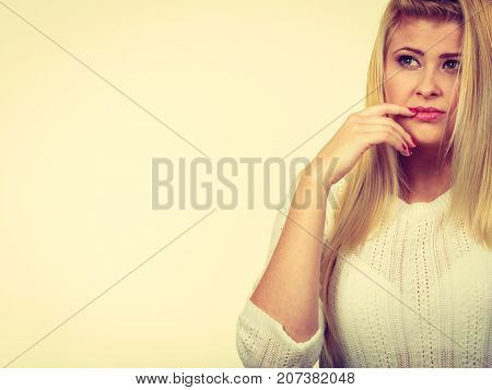Woman Holding Open Palm Empty Hand