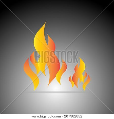 Design fire flame element on dark background stock vector