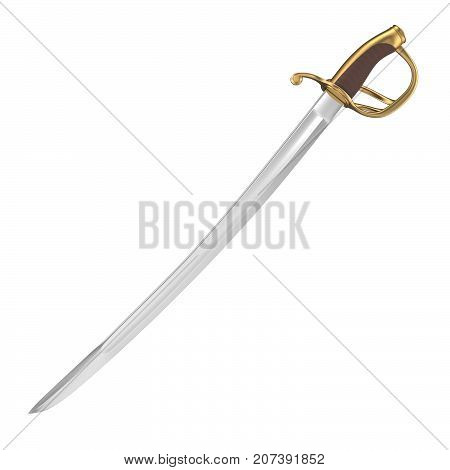 3D rendering of cutlass, isolated on white background