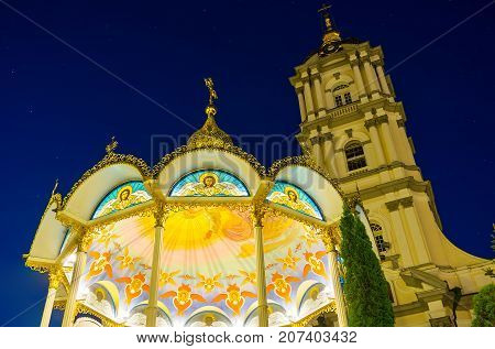 Beautiful Illumination Of Pochaev Lavra