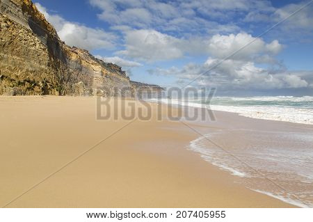 Beautiful beach at Gibson's Steps on the Great Ocean Road near the Twelve Apostle Sea Rocks.