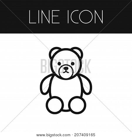 Gift Vector Element Can Be Used For Gift, Teddy, Soft Design Concept.  Isolated Soft Outline.