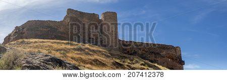 Arnedo castle panoramic view at La Rioja
