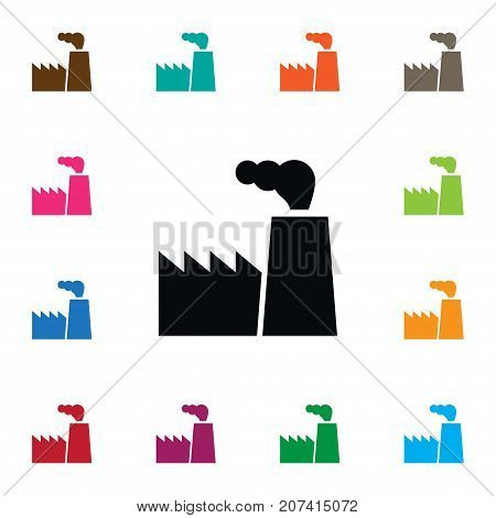 Architecture Vector Element Can Be Used For Industry, Architecture, Factory Design Concept.  Isolated Industry Icon.