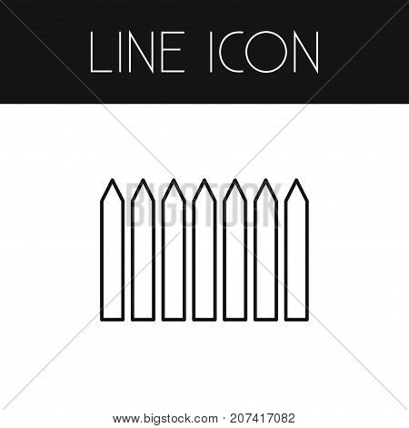 Wrought Vector Element Can Be Used For Wrought, Wooden, Fence Design Concept.  Isolated Fence Outline.