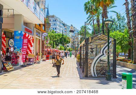 Walk In Ataturk Boulevard, Antalya
