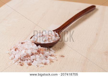 Himalayan Salt On Spoon