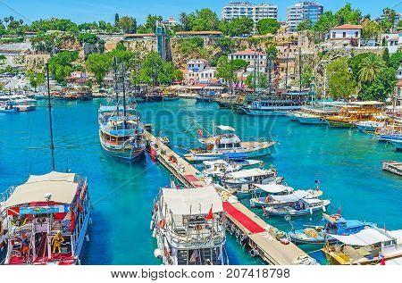 Pier In Antalya Marina