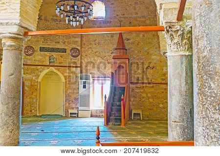 In Grand Mosque (yivliminare) Of Antalya